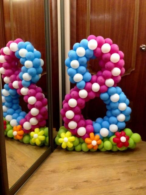Как из шариков сделать цифру своими руками на день